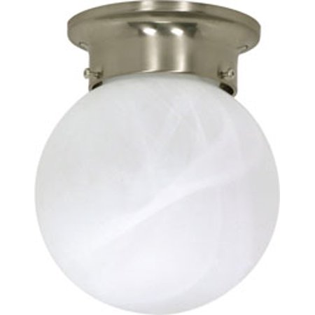 Ceiling Mounted Disco Ball (Replacement for 60/257 1 LIGHT 6 INCH CEILING MOUNT ALABASTER BALL BRUSHED NICKEL)