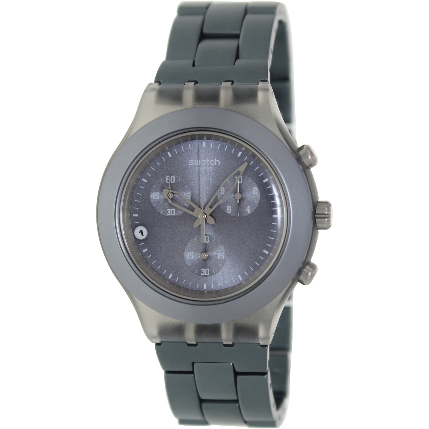 Swatch Full Blooded Smoky Grey Mens Watch SVCM4007AG