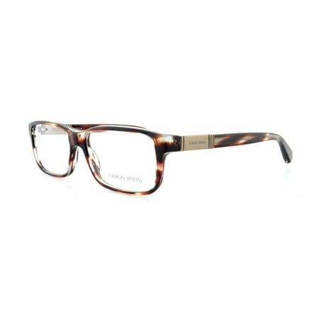 89fb1d8bae90 Giorgio Armani AR7001 5036 Striped Brown Rectangle Eyeglasses Frames -  Walmart.com