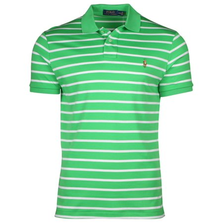 Polo Ralph Lauren Mens Medium Fit Striped Interlock Shirt
