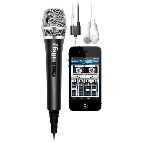 IK Multimedia iRig Mic - Handheld Condenser Mic for iPhone/iPod touch/iPad