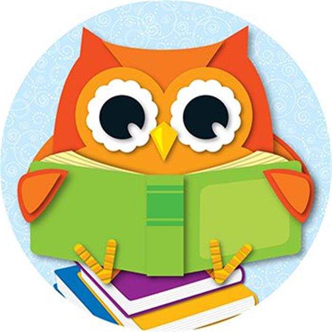 CARSON DELLOSA CD-188049 READING OWL TWO SIDED DECORATIONS - image 1 of 1