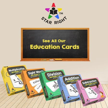 Star Right Education Subtraction Flash Cards, 0-12 (All Facts, 169 Cards) With 2 Rings - image 3 of 5