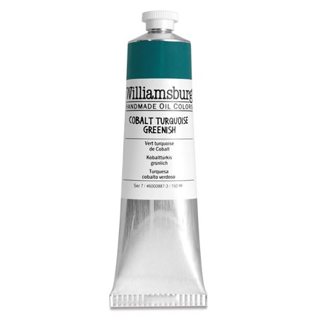 Williamsburg Handmade Oil Paint - Cobalt Turquoise Greenish, 150 ml tube Bath Williamsburg 2 Light