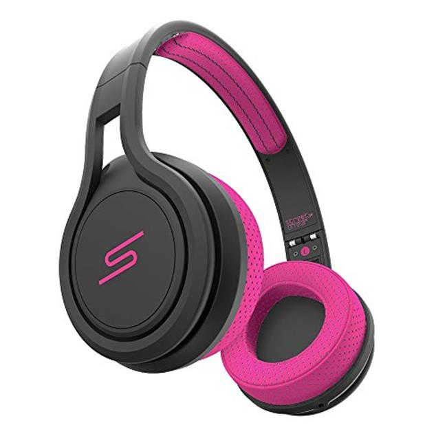 SMS Audio SMS-ONWD-SPRT-PNK On-Ear Wired Sport Headphones, Pink