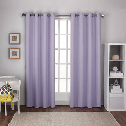 Exclusive Home Textured Woven Blackout Window Curtain Panel Pair with Grommet Top by Exclusive Home