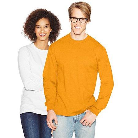 Hanes Mens Premium Beefy-T Cotton Long Sleeve T-Shirt - Walmart.com