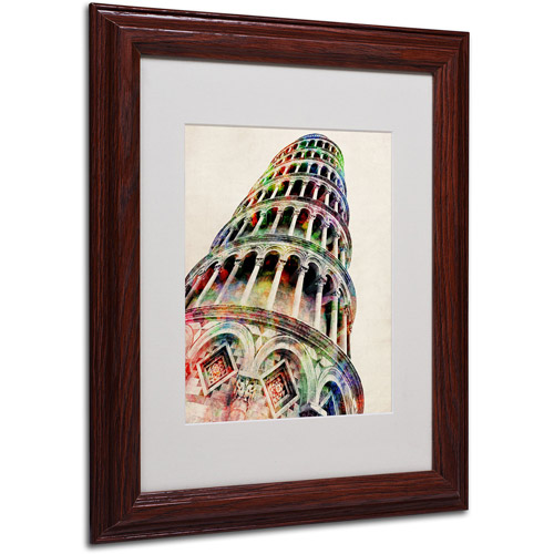 Trademark Art 'Leaning Tower Pisa' Matted Framed Art by Michael Tompsett