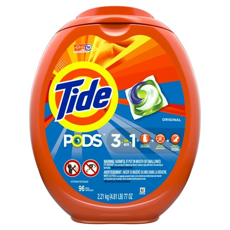 Tide PODS Liquid Laundry Detergent Pacs, Original, 96 Count