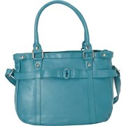 R & R Collections Leather Medium Tote with Detachable Strap