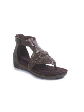 10fa10ef79e1 ... Paul s Shoes. Free shipping. Product Image Pierre Dumas Women s Kecey 4  Brown Faux Leather Braided Strap Gladiator Thong Sandal Size  7
