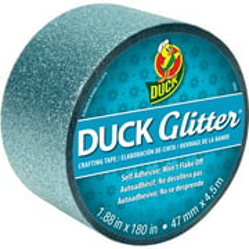 "Duck Brand Glitter Tape, 1.88"" x 180 inches, Aqua"