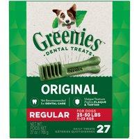 Greenies Original Regular Natural Dental Dog Treats (Various Counts)