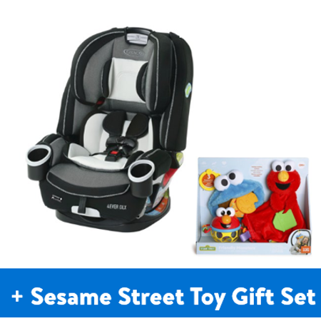 Graco 4Ever DLX 4-in-1 Convertible Car Seat, Fairmont Black + Bonus Baby Toy