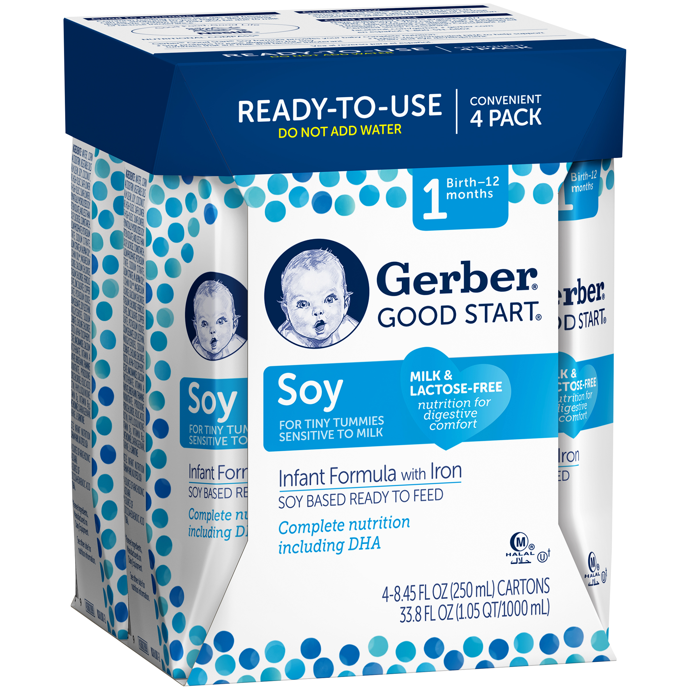 Gerber�� Good Start�� Soy Ready to Feed Infant Formula, 8.45 Ounce, 4 Pack