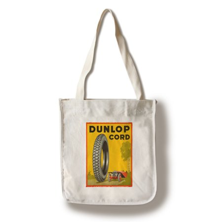 Dunlop Cord Vintage Poster USA c. 1923 (100% Cotton Tote Bag - Reusable)