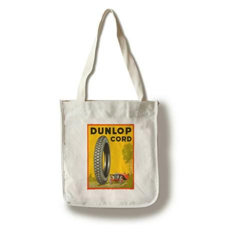 Dunlop Cord Vintage Poster USA c. 1923 (100% Cotton Tote Bag - Reusable)