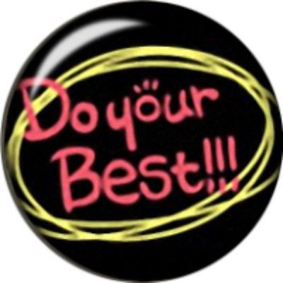 Snap button Inspirational Do your best 18mm Cabochon chunk charm](Inspirational Charms)