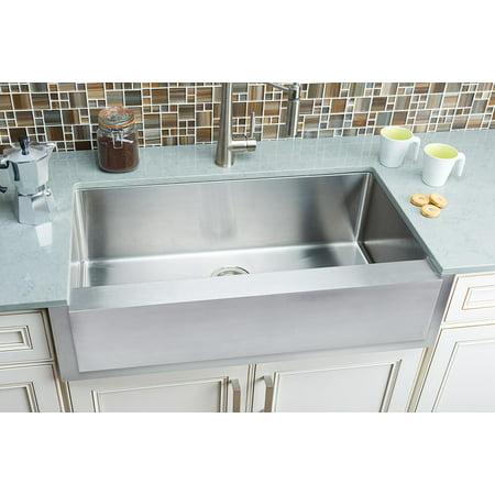 Hahn Farmhouse Notched Farmhouse Extra Large Single Bowl Sink