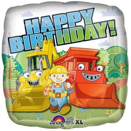 Bob The Builder Happy Birthday Foil / Mylar Balloon 18