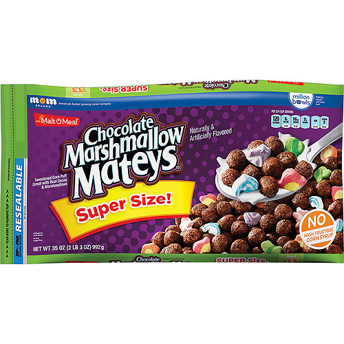 Malt-O-Meal Chocolate Marshmallow Mateys Cereal, 33.5 oz