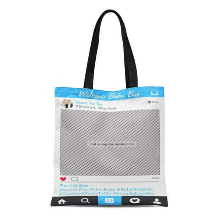 KDAGR Canvas Tote Bag Wedding Party Prop for Booth Bridal Baby Reusable Handbag Shoulder Grocery Shopping Bags
