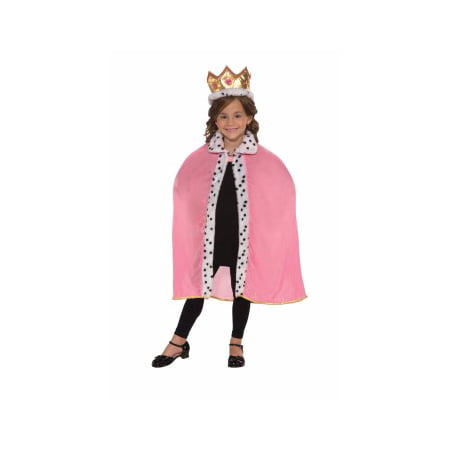 CHLD-PINK QUEEN CAPE & CROWN](Crown Prop)