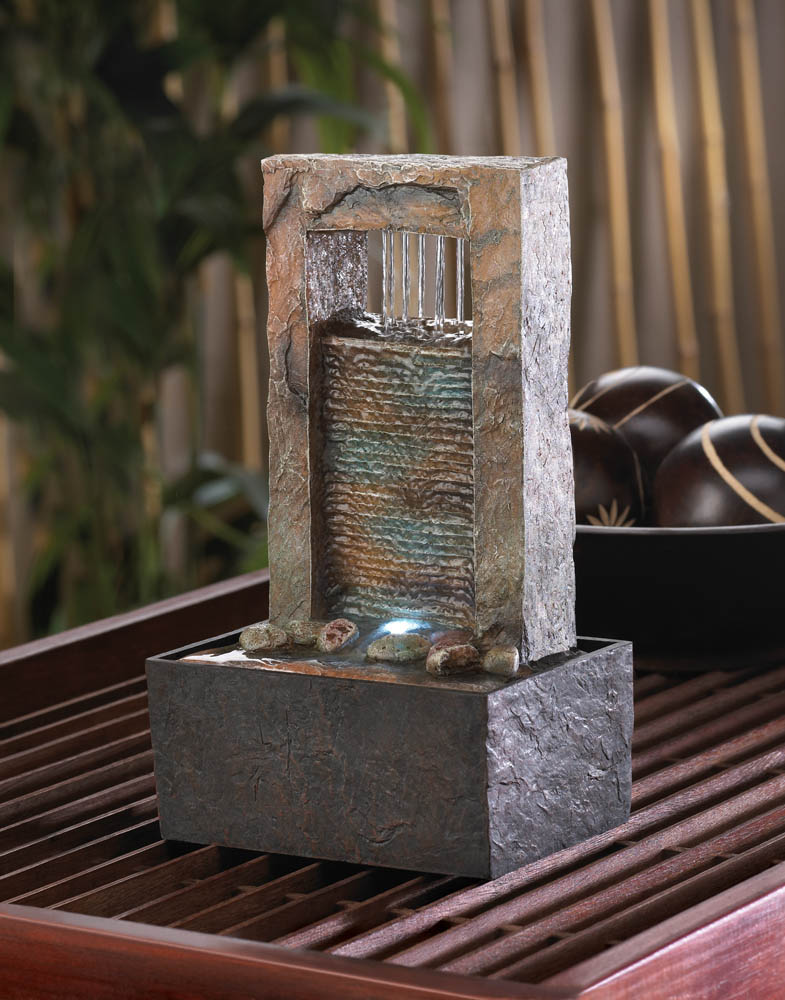 Tabletop Fountain Waterfall, Indoor Rock Fountain, Made With ...