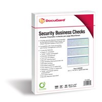 Docugard Premier Prismatic Business Checks, 3 Checks Per Page, Blue and Green, 24 Pound, 8.5 x 11 Inches, 500 Sheets per Ream (04539)