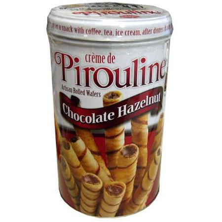 Creme de Pirouline, Chocolate Hazelnut Wafers, 14 oz - Chocolate Soy Wafers