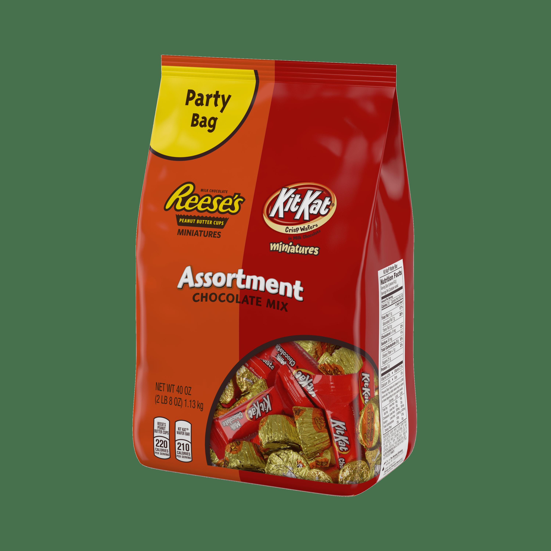 Reese\'s Kit Kat, Chocolate Candy Miniatures Assortment, 40 Oz ...