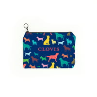 Colorful Dogs Personalized Pet Accessory Pouch, Multiple Sizes