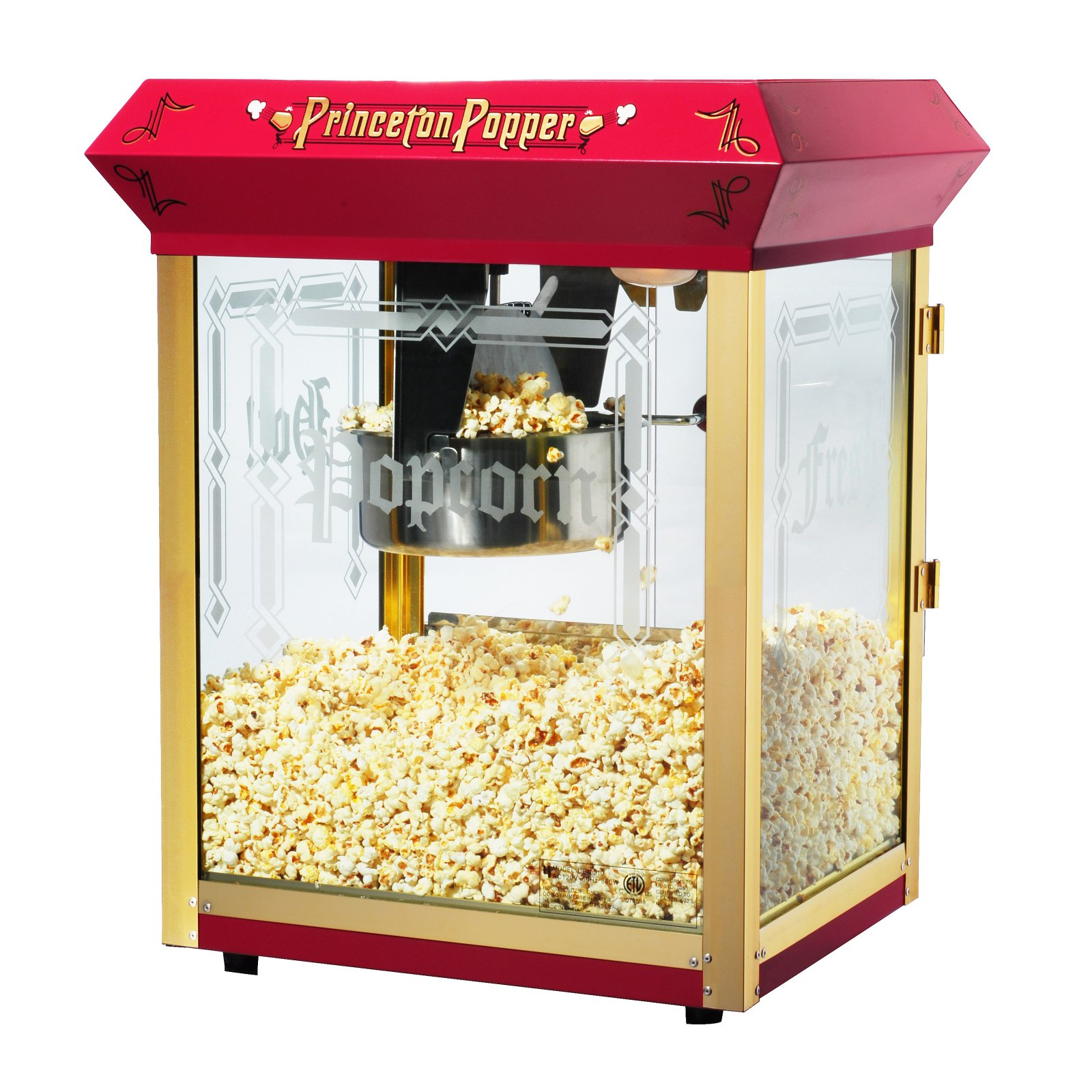 Great Northern Princeton Red Antique Style Popcorn Popper Machine, 8 Ounce
