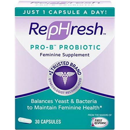 RepHresh Pro-B Probiotic Feminine Supplement, Capsules 30 ea (Pack of