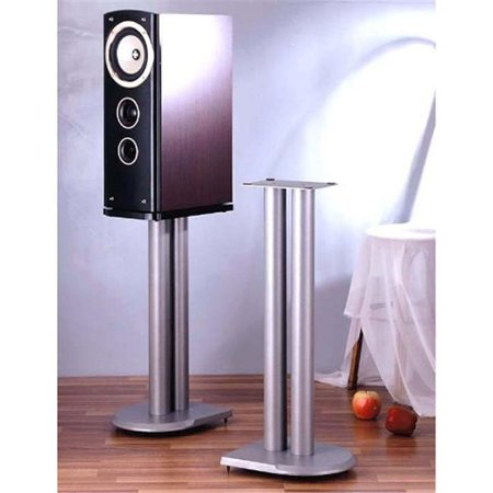 VTI Manufacturing UF19S 19 in. H, Iron Center Channel Speaker Stand - Grey, (Chanel Grey)