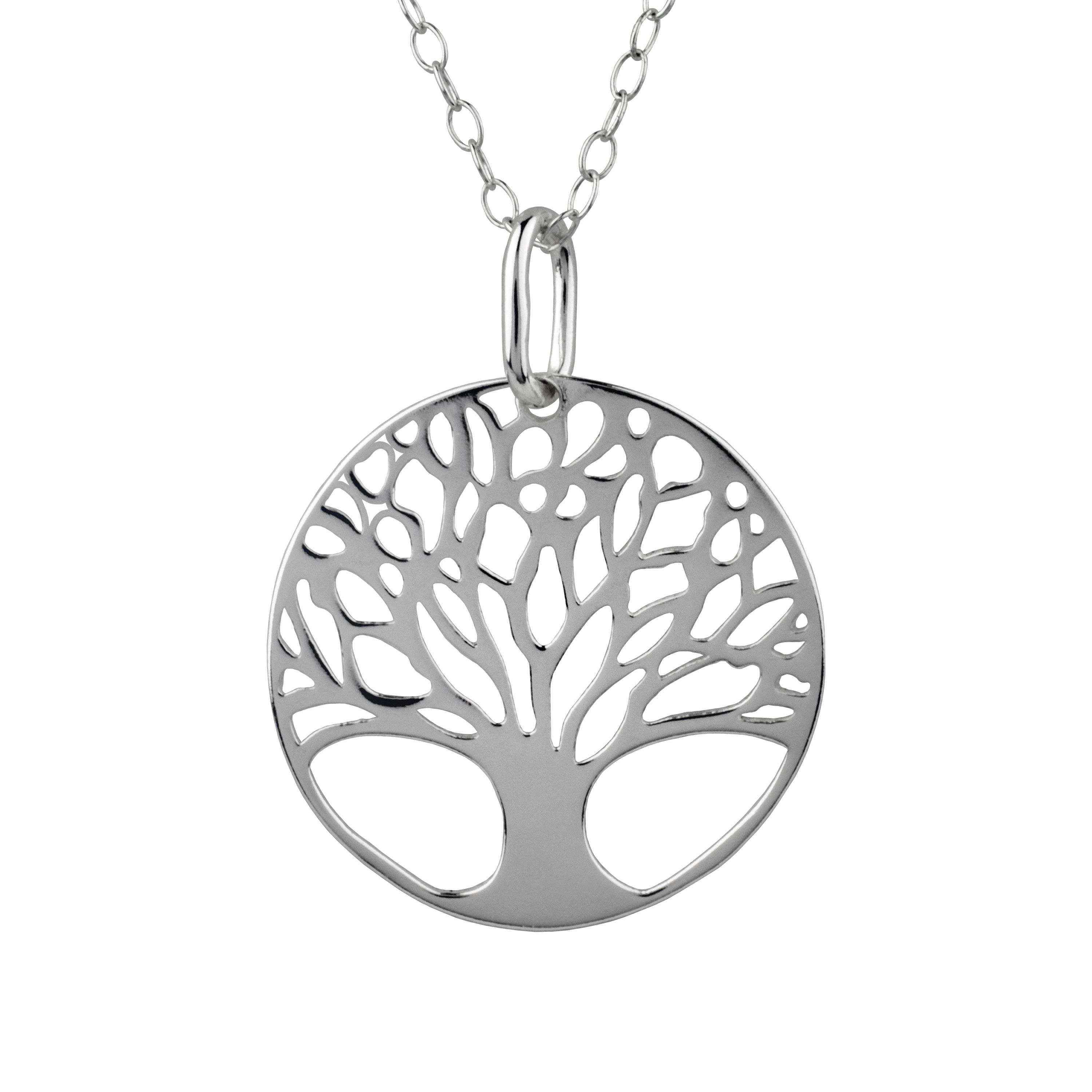 Brilliance Fine Jewelry Sterling Silver Tree of Life Necklace