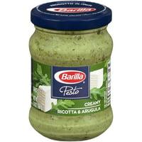 Barilla Creamy Basil & Arugula Pesto Sauce and Spread 5.6 oz