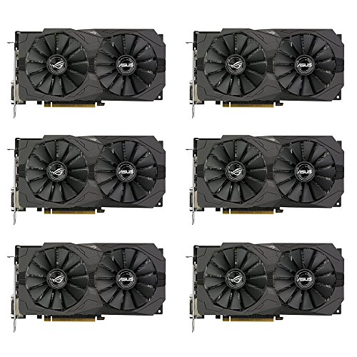 6 Packs of ASUS ROG Strix Radeon RX 570 O4G Gaming OC Edition GDDR5 DP HDMI DVI VR Ready AMD Graphics Card... by ASUS