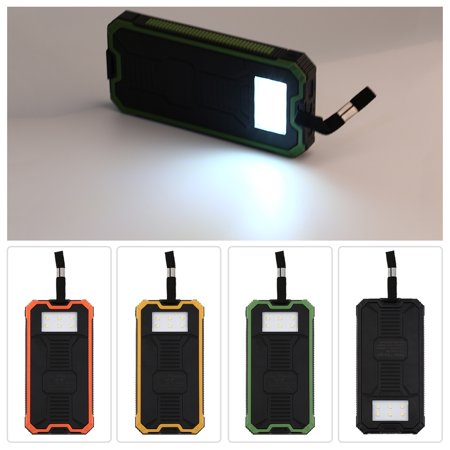 30000Mah Dual Port Solar Led Power Bank External Battery Charger For Phone