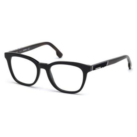 Diesel DL5205-001-50 Square Unisex Black Frame Clear Lens Genuine Eyeglasses