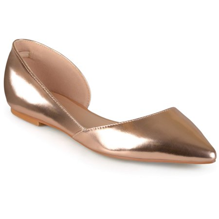 eb6afed3325 Brinley Co. Women s Wide Width D Orsay Cut-out Pointed Toe Fashion Flats -  Walmart.com