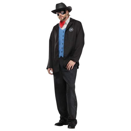 Old Wild West Avenger Masked Cowboy Outlaw Sheriff Adult Mens Halloween - Old West Costumes Adults