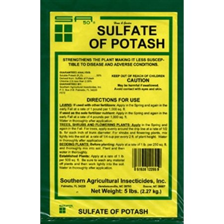 Sulfate Of Potash 0 0 50 Granular Fertilizer   5 Lbs