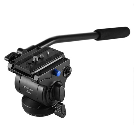 Professional Photography Video 65mm Base Diameter Fluid Drag Tilt Hydraulic Damping Head with Quick Release Plate for DSLR Camera Tripod Monopod Slider