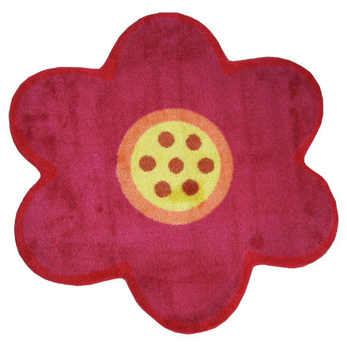 Fun Rugs Fun Shape Medium Pile Flower Area Rug