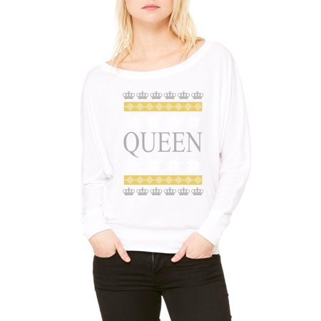 christmas t shirt xmas queen womens long sleeve shirts flowy walmartcom