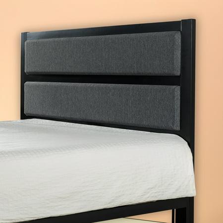 Mission Style Headboard - Zinus Viola Modern Studio Upholstered Metal Headboard, Full