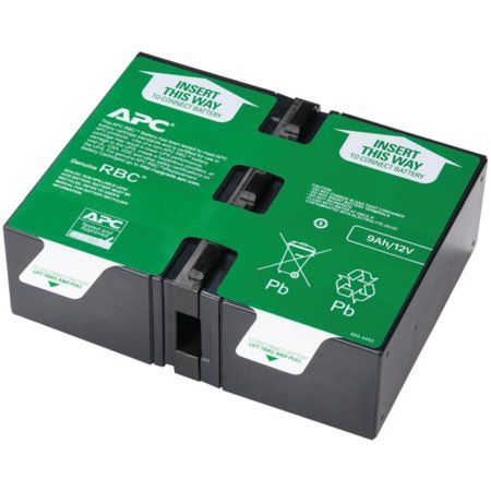 APC APCRBC124 Replacement Battery Cartridge #124 ? For UPS at home & small businesses supporting computers & network systems;? Guaranteed compatibility with APC UPS devices ;? Reliable for power spikes & outages;? Easy hot-swap installation without downtime;? Spill-free & uses recycled lead;? UL(R) listed;