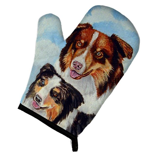 Carolines Treasures 7009OVMT Australian Shepherd What a pair Oven Mitt - image 1 of 1