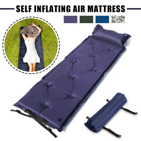 Grtsunsea Clearance 4 Colors Polyester Self-Inflating Air Mat Mattress Pad Pillow Waterproof Hiking Sleeping Bed Outdoor